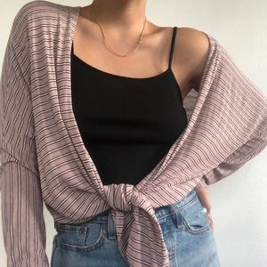 Don't Ask Why | Striped Cardigan